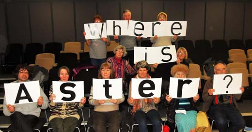 Worcester Group holding 'Where Is Aster' message